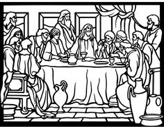 Comfortable La Ultima Cena De Jesus Con Sus Discipulos Para Colorear