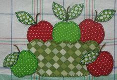 Applique Apple for quilts,towels,etc
