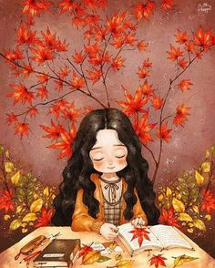 """The Diary Of A Forest Girl. Aeppol is an artist who tries to capture the beauty held in the uniqueness of the ethereal moments from everyday life that inspire us before they disappear forever. Art And Illustration, Illustrations, Cartoon Kunst, Cartoon Art, Forest Girl, Anime Art Girl, Anime Girls, Manga Art, Cute Drawings"