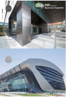 Manufacturers of stainless steel surface finishes that are corrosion resistant, anti-bacterial & self-cleaning making it ideal for walls, roofs & ceilings Stainless Steel Balustrade, Steel Cladding, Cladding Materials, Roof Ceiling, Metal Facade, Surface Finish, Wrought Iron, Custom Design, Technology