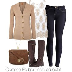 """Caroline Forbes inspired outfit/ The Vampire Diaries"" by tvdsarahmichele on Polyvore"