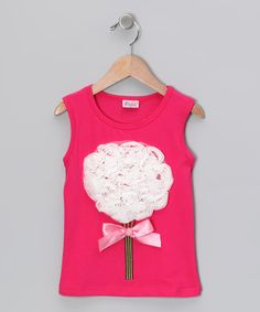 Take a look at this Hot Pink & White Flower Bouquet Tank - Infant, Toddler & Girls by Seesaws & Slides on #zulily today!