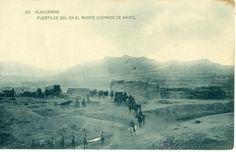 MARRUECOS. DESEMBARCO DE ALHUCEMAS. PUESTA DE SOL EN EL MONTE CUERNOS DE XAUEN. 1925.
