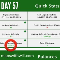 Click a mouse and get paid! No selling or sponsoring required! www.mapswithwill.com