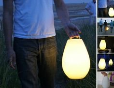 Luau, la lampe portable… need a couple of these for the deck/patio this summer.
