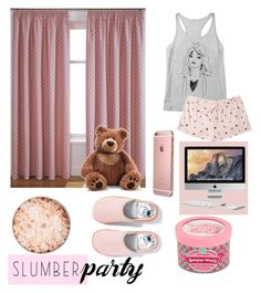 """""""SLUMBER PARTY """" by alwaysyourself ❤ liked on Polyvore featuring Mauli Rituals, Forever 21, Gund and slumberparty"""