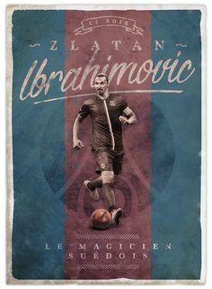 Retro football posters Ibrahimovic