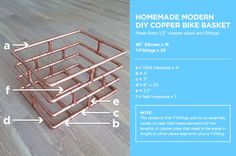 How to: Make Your Own Copper Pipe Bike Basket