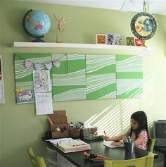 Idea for bulletin board- remove the wood and cover with fabric.