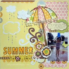 summer scrapbooking layout