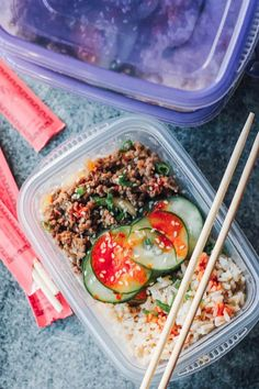 Korean Beef Meal Prep Bowls 17 Exciting Make-Ahead Lunches That Aren't Another Boring Salad Make Ahead Lunches, Prepped Lunches, Work Lunches, Healthy Lunches, Lunch Snacks, Lunch Box, Lunch Meal Prep, Meal Prep Bowls, Lunch Time