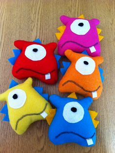 little felt monster plushies