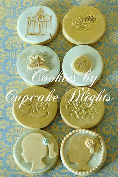 cookies with silhouettes, nice for a kids tea party, wedding shower, anything girly!