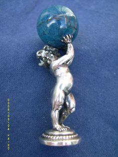 Lapis Lazulli and silver deskseal (Vienna) by Georg Adam Scheid. Was in my former collection.
