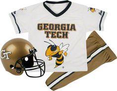 Georgia Tech Yellow Jackets Blue And Black Stripes Headband Set