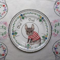 Oui, this is too cute...  Oui Oui French Bulldog Wilfred Vintage by thestorybookrabbit, $32.00