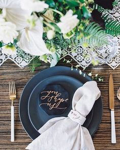 Guys, the rehearsal dinner totally deserves a little more love, doesn't it? Sharing some lovely ideas for a modern black and white #dinner, tonight on 100LC. Event Design & Coordination: @tolalune | Photo: @jenwojcik | Table runner: @laura_made_it | Calligraphy: @twinkleandtoast | Glasses, plates, napkins: @westelm | Floral design: @catalinaneal | Venue: @bencotto #rehearsal #wedding #mywestelm