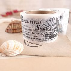 Scrapbooking Tape – Washi Masking Tape - seashell – a unique product by atelier-Brocante on DaWanda