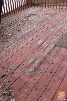This deck is badly in need of new stain... and a lot of love. You won't believe how it looks after a complete deck makeover-- inspiration to get your deck in shape. Take a look on The Home Depot Blog.