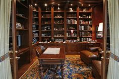 Office / Library in a luxury-real estate waterfront home in Boca Raton, Florida, 2280 Queen Palm Road.
