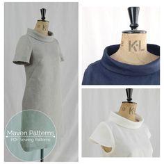 The French Dart Shift Tunic PDF sewing pattern, tunic sewing pattern, womens…