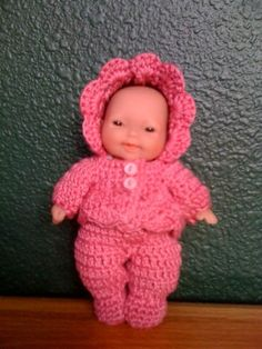 """Sweetie Pie 3pc sweater set for 5"""" Lots to love doll - Free Original Patterns - Crochetville"""