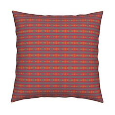 Catalan Throw Pillow featuring KRLGFabricPattern_102A by karenspix   Roostery Home Decor
