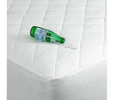 $33.93 Perma-Dry Sound-Free Waterproof XL Mattress Pad  Top Features include: 3 Layer Barrier Fabric with Poly/Cotton face. Durable, Made in the USA dorm bedding product - Machine Washable Waterproof 70-150 PSI, Breathable, Ultra Fresh Antibacterial Finish Prevents Sweating - Sound Free non-vinyl interior (no crunch)