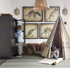 ... rooms# on Pinterest  Dinosaurs, Dinosaur Room Decor and Leather Wall