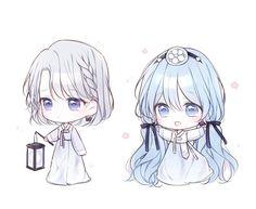 Cute Anime Chibi, Kawaii Chibi, Cute Anime Pics, Anime Girl Cute, Kawaii Art, Kawaii Anime Girl, Anime Art Girl, Anime Girls, Chibi Girl Drawings