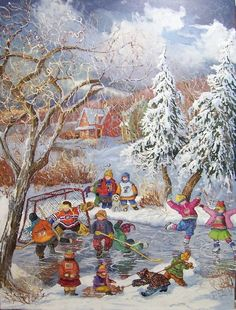 This site presents a complete painting wallpaper images, presented to you seekers of information about wallpapers and painting images. Canada Pictures, Canada Images, Winter Pictures, Christmas Pictures, Sports Painting, Illustration Noel, Illustrations, Vintage Christmas Images, Canadian Art