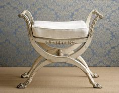 Antique stool, Evergreen Antiques via Country Living online