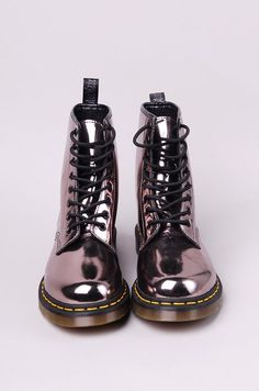 Doc Martins in metallic would have loved these when I was wearing docs in high school. I don't know about me as a mom in docs?