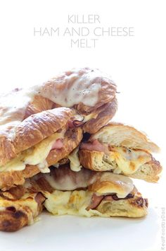 Ham and Cheese Melt on Croissants