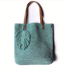 Best 12 Totally handmade crochet tote bag with short or long knitted handles. Huge variety of colors available. Free Crochet Bag, Crochet Tote, Crochet Handbags, Crochet Purses, Macrame Bag, Jute Bags, Purse Patterns, Knitted Bags, Handmade Bags