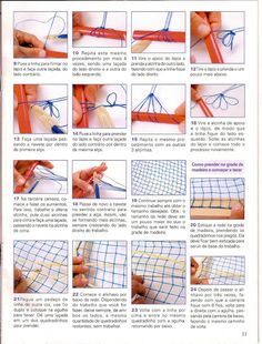 aprenda facil RENDA FILE Needle Lace, Bobbin Lace, Yarn Crafts, Diy And Crafts, Net Making, Lacemaking, Filets, Vintage Crafts, Weaving Techniques