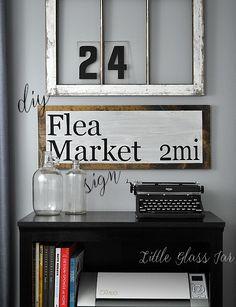 DIY Flea Market Sign