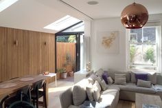 Venn Street Part 2 : Modern living room by Proctor & Co. Architecture Ltd