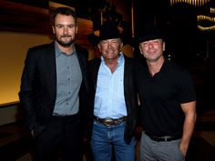 Eric Church, George Strait, and Kenny Chesney attend the T.J. Martell Foundation 9th Annual Nashville Honors Gala at Omni Hotel on February 27, 2017 in Nashville, Tennessee.