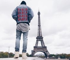 #streetbeast: in The Life of Pablo denim jacket. Photo: @kickstq by hypebeast
