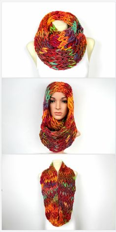 Do you like unique fashion designs? If yes then this scarf is something to consider. It is 100% handmade from an original thick and thin yarn. Two threads are connected together into one and therefore the combination of color-shades can never be repeated in the exact same pattern. All you get will always be one of a kind chunky knit scarf.Perfect birthday gift for a women, mom, wife, girlfriend, daughter or sister!Click through to see more colors