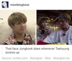The if-only-I-was-older faces he gives TaeTae are pure gold