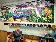 plastic cap mural | ... mural depicting the Chesapeake Bay, composed entirely of plastic