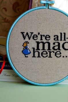 alice in wonderland cross stitch