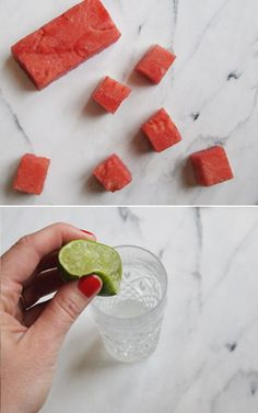 portrait of a cocktail // watermelon basil gimlet #recipe