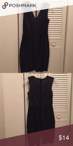 Hm eyelet black and creme dress size 4 Cute eyelet dress Dresses