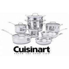 Cuisinart (44-13c) 13-Piece Contour Stainless Cookware Set