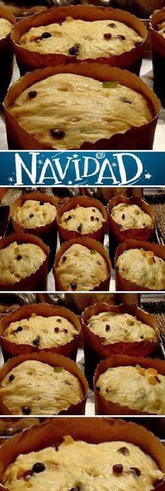 Pan Dulce Casero de Navidad. #panettone #panetone #pandulce #paneton #navideño #navidad #navideña #merrychristmas #postres #cheesecake #cakes #pan #panfrances #panes #pantone #pan #recetas #recipe #casero #torta #tartas #pastel #nestlecocina #bizcocho #bizcochuelo #tasty #cocina #chocolate Si te gusta dinos HOLA y dale a Me Gusta MIREN... Xmas Food, Christmas Desserts, Homemade Christmas, Christmas Christmas, Pan Bread, Pastry And Bakery, Sweet Bread, Mexican Food Recipes, Food And Drink