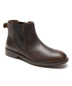 Chocolate Graham Leather Chelsea Boot - Men