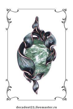 "Купить Кулон ""Хвойная поляна"" с Клинохлором (Серафинитом) - кулон, авторские украшения, украшения ручной работы Jewelry Art, Jewelry Necklaces, Jewelry Design Drawing, Jewellery Sketches, China Art, Diamond Flower, Metal Clay, Designs To Draw, Hand Weaving"